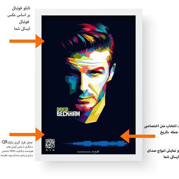 اطلاعات تابلو فوتبال قاب سفید عمودی