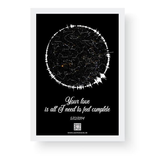 تابلو آسمان مدل فرکانس- تابلو صدا
